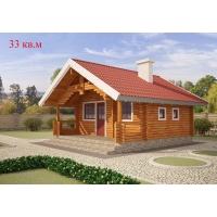 Деревянные дома из клееного бруса площадью 33 кв.м Евлашевский ДОК