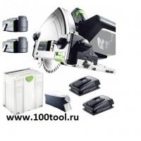 Аккумуляторная погружная пила Festool TSC 55 REB-Plus/XL Li