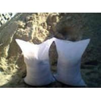 Песок,цемент,керамзит,известковый  раствор,щебень-в мешках.