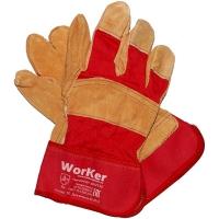 Перчатки комбинированные со спилком WorKer per2130