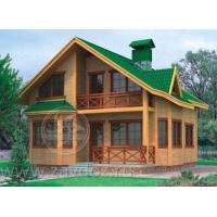 Дом каркасный, имитация клееного бруса