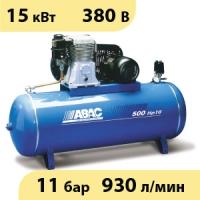 Масляный ременной двухступенчатый компрессор ABAC B7000/500 FT10 (15 бар)