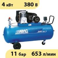 Масляный ременной двухступенчатый компрессор ABAC B5900B/200 CT5,5