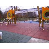 Резиновая тротуарная травмобезопасная плитка для детских площадо EcoStep 500*500*40 мм