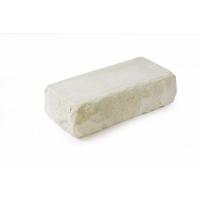 Кирпич белый силикатный рустированный с угла