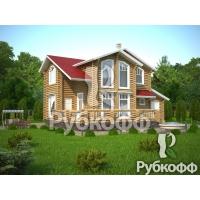 Проек дома П35 ООО Рубкофф Дом из оцилиндрованного бревна