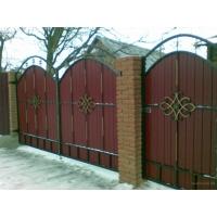 Ворота калитка из профлиста, ворота калитки кованые с проф насти Гефест-Барнаул Забор из профлиста