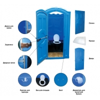 Туалетная кабина Стандарт производства Группы компаний ЭкоПром