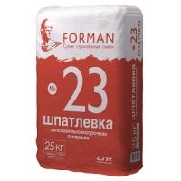 Шпатлевка гипсовая высокопрочная FORMAN 23 25 кг.