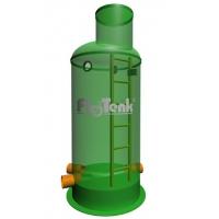Колодец канализационный стеклопластиковый поворотный