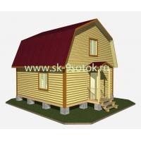 Дом из профилированного бруса 6х6 метра «Онега» СК 9 Соток