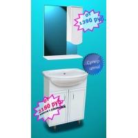 КОМАДО мебель для ванных комнат от производителя KOMADO 102.1.50 (Диана) ширина 50 см с раковиной