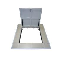 Напольный люк под плитку с газовыми амортизаторами  Стелс 600х600 мм