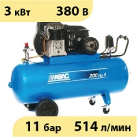Масляный ременной двухступенчатый компрессор ABAC B4900/200 CT4