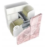 Подсистема из нержавейки для навесного вентилируемого фасада Ньютон Системс для облицовки из камня