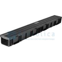 Комплект: лоток Лайт ЛВ -10.11,5.9,5- пластиковый с  реш. пласти Gidrolica