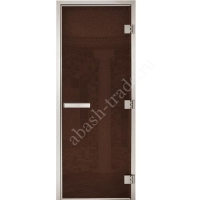 Двери для турецкой бани:Arabica бронза 1900*700