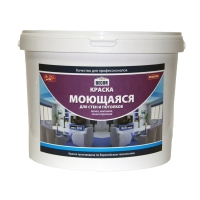 Краска AQUADECOR моющаяся для стен и потолков Эконом,14 кг