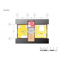 Каркасный мансардный дом  A-015098-5