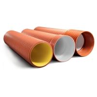 Гофрированные двухслойные трубы для канализации ИКАПЛАСТ