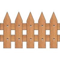 Штакетник высота 68-70см длина прогона 1м ООО ГОТИКА