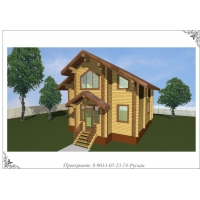 Проект деревянного дома, брус, 135 кв. м