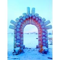 арка из бревна Skriber-sk ладшафтный вариант