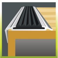 Антискользящий алюминиевый профиль с резиновыми вставками  (Чешский)