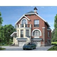 КОРВЕТ - проект трехэтажного коттеджа с двумя гаражами 70а Альфаплан