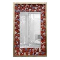 Зеркало из венецианского стекла в золотом багете