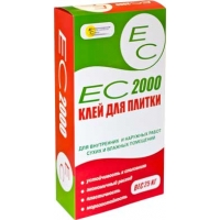 Клей плиточный ЕС 2000 для внутренних и наружных работ