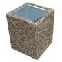 Урна бетонная с природной каменной крошкой   Москва