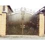 Ворота кованые, Версаль (матовый поликарбонат) Сталь-Проект  Казань
