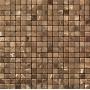 Мозаика из натурального мрамора Сhina Emperador Dark чип 10*10 м   Новосибирск