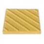 Тактильная плитка с диагональными рифами 50х50х5 желтая   Москва