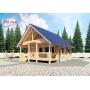 Деревянные дома из клееного бруса S= 104 кв.м. Евлашевский ДОК  Самара