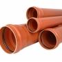 Труба и фитинги ПВХ для наружной канализации Ду 110 160 200 250   Новосибирск