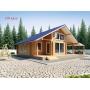 Деревянные дома из клееного бруса S=130 кв.м. Евлашевский ДОК  Самара
