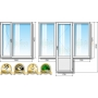Окна ПВХ в однокомнатную квартиру в «хрущевке» Grunder  Москва