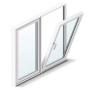 Двухстворчатое окно Montblanc Эконом Тула