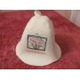 банная шапка  колпак с вышивкой Москва