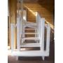 Лестница деревянная на второй этаж ДЕКОН С поворотом Уфа