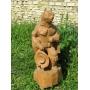 Парковая скульптура Кот в сапогах из дерева Липецк