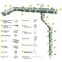 Водосточные системы пластик DOCKE водостоки, водосточка, пластик Великий Новгород