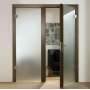 Распашная стеклянная дверь   Беларусь