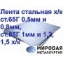 Лента стальная х/к ст.65Г 0,5мм и 0,8мм, ст.65Г 1мм и 1,2, 1,5 х   Екатеринбург