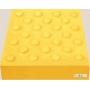 Бетонная тротуарная плитка тактильная 40х40х5 конусообразные  рифы желтая Москва