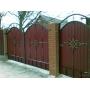 Ворота калитка из профлиста, ворота калитки кованые с проф насти Гефест-Барнаул Забор из профлиста Барнаул