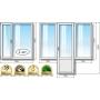 Окна ПВХ в двухкомнатную квартиру в «хрущевке» Grunder  Москва
